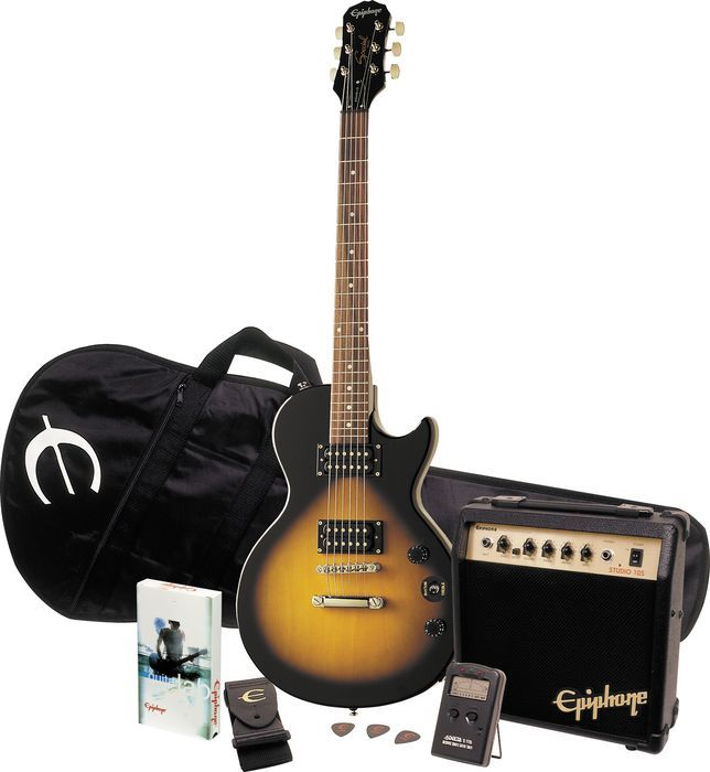 epiphone les paul special ii player pack ebony № 277383